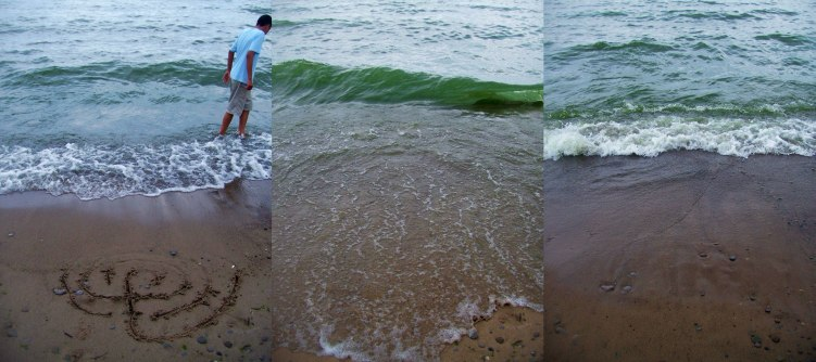 sand-drawn-labyrinth-being-washed-away-woodbine-beach-9-august-2009