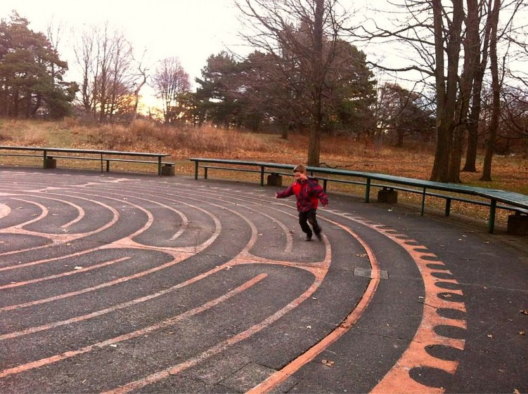 Probably not the pace the high park labyrinth was meant to be done at But it does say go at your own pace twitter-com-ZippyKittyToo-status-155759600338087936