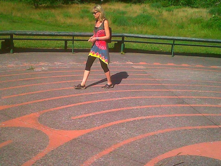Walking the labyrinth in High Park twitter-com-andthis2-status-216298213903302657