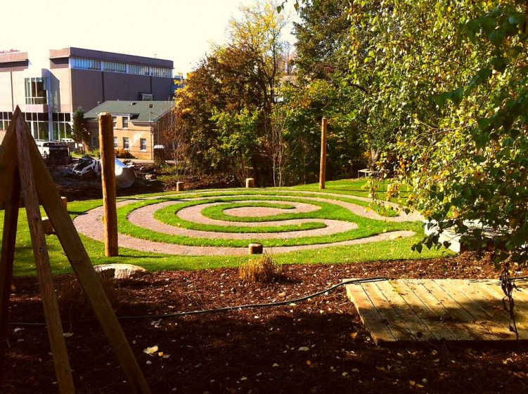 Construction on our Junior School Outdoor Learning PlaySpace continues! Here's the new labyrinth - twitter-com-HavergalCollege-status-391231933360795648