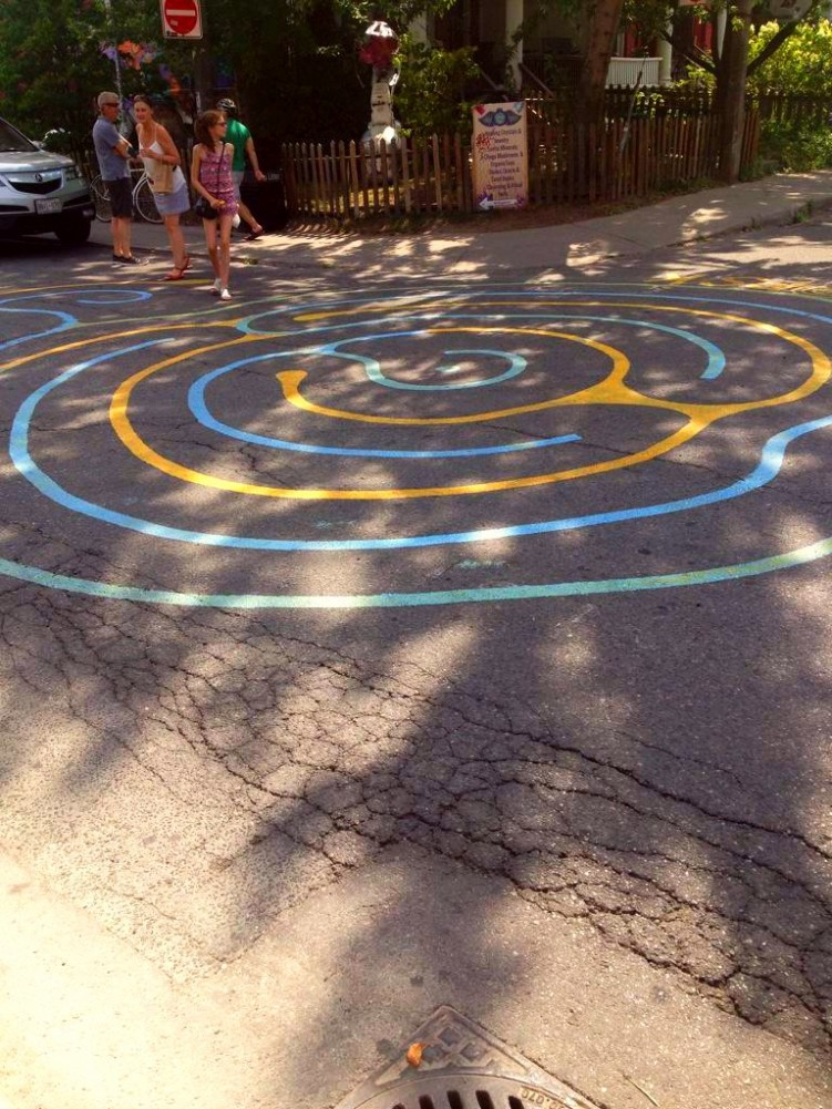 I found this labyrinth in Toronto shows you can get art anywhere -twitter-com-gorse_hill-status-627181620903157760
