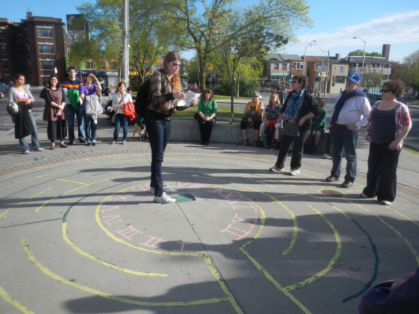 Thank you Courtney - Volunteer who helped start Toronto City of Labyrinths janeswalk today! WorldLabyrinthDay
