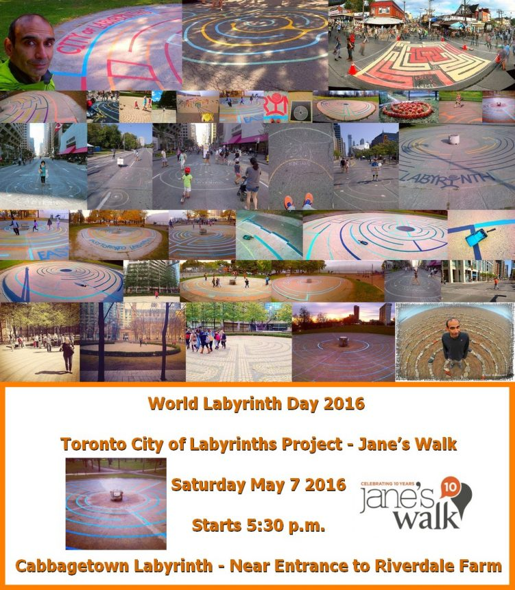 World Labyrinth Day 2016 - Toronto City of Labyrinths Project - Jane's Walk