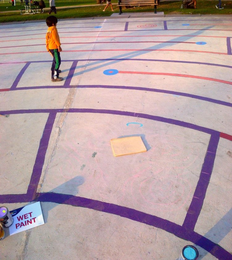 christie pits butterfly labyrinth - toronto city of labyrinths project - 01