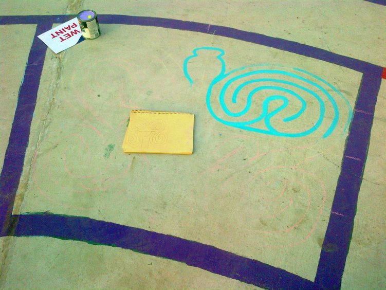 christie pits butterfly labyrinth - toronto city of labyrinths project - 02