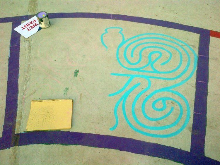 christie pits butterfly labyrinth - toronto city of labyrinths project - 03
