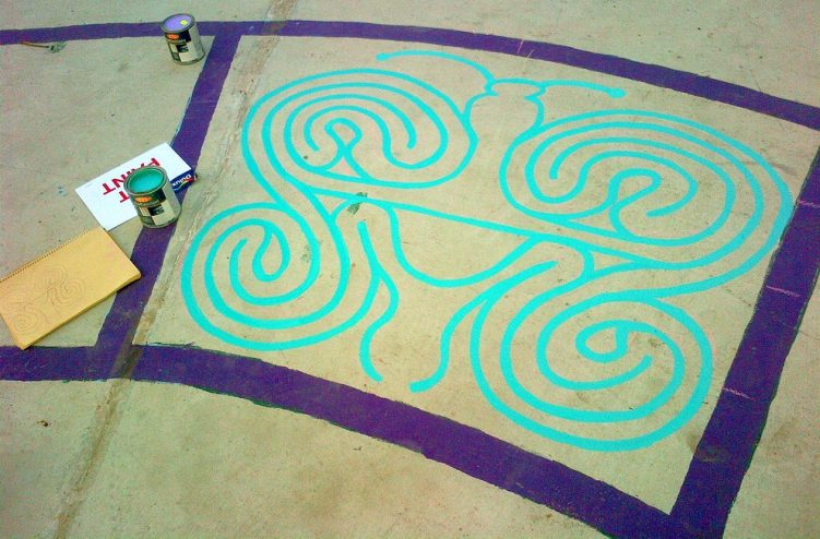 christie pits butterfly labyrinth - toronto city of labyrinths project - 04