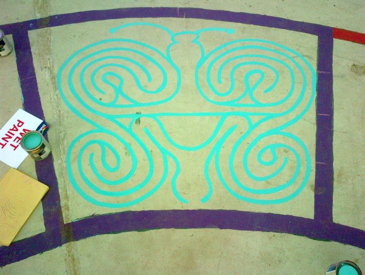 christie pits butterfly labyrinth - toronto city of labyrinths project - 05