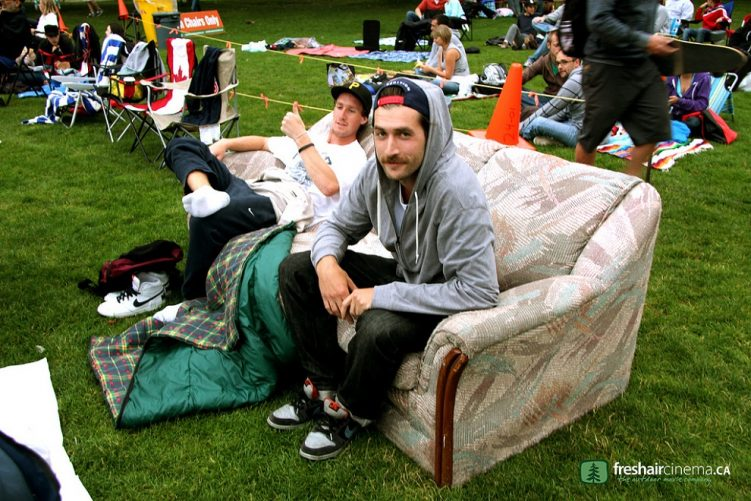 couch - fresh air cinema - second beach - stanley park - vancouver bc