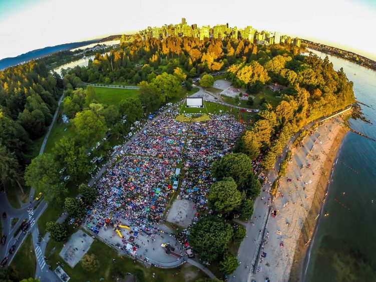 fresh air cinema - second beach - stanley park - vancouver bc