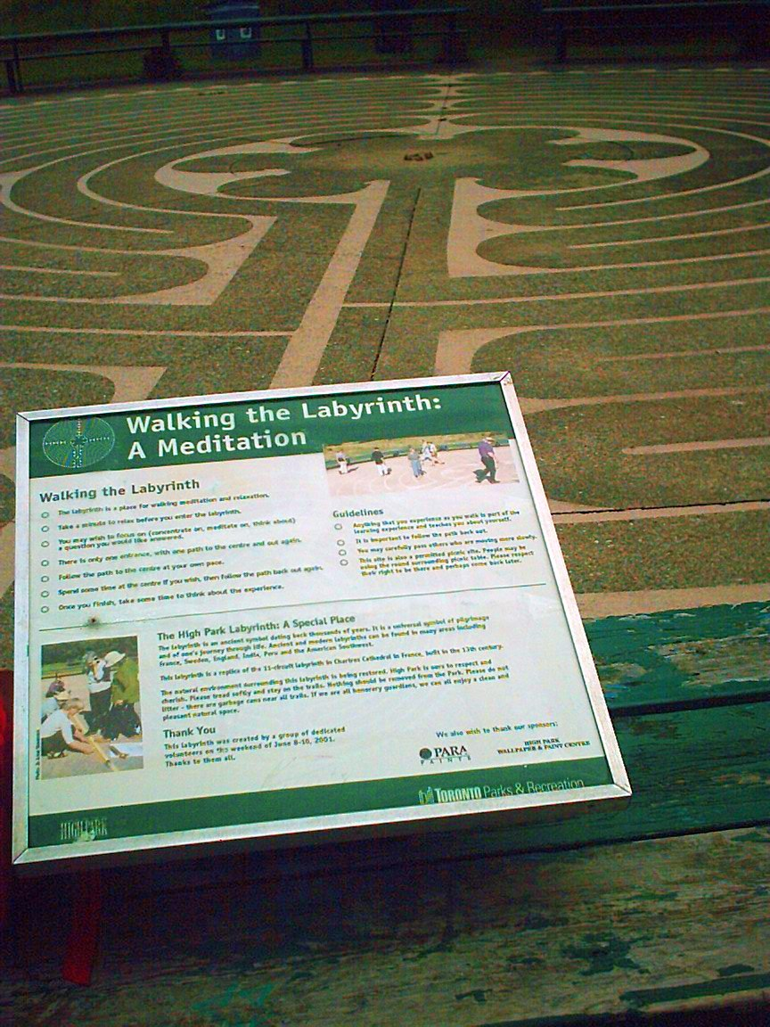High Park Labyrinth -- A Special Place (Information Sign)