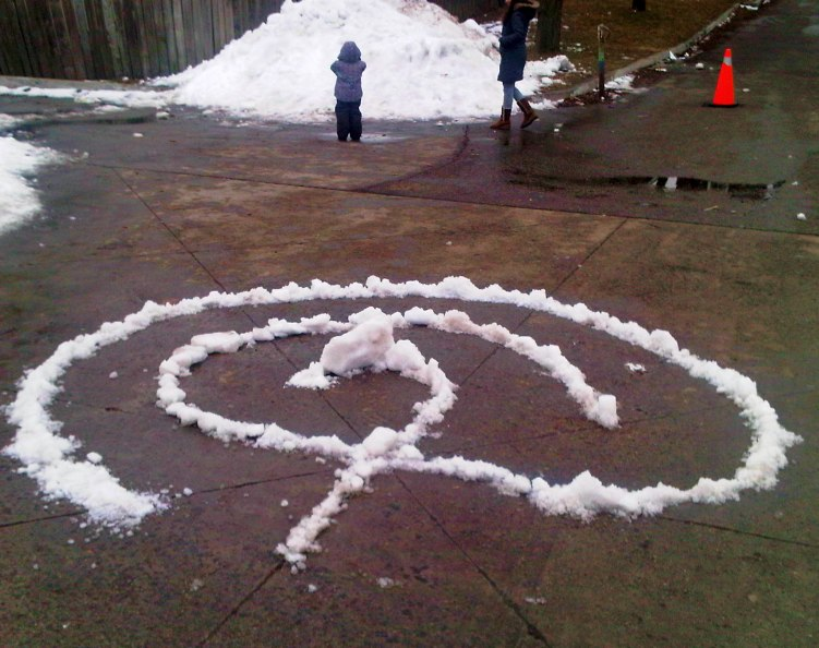 Snow Labyrinth, Toronto City of Labyrinths Project, Winter Fun Day, Christie Pits Park